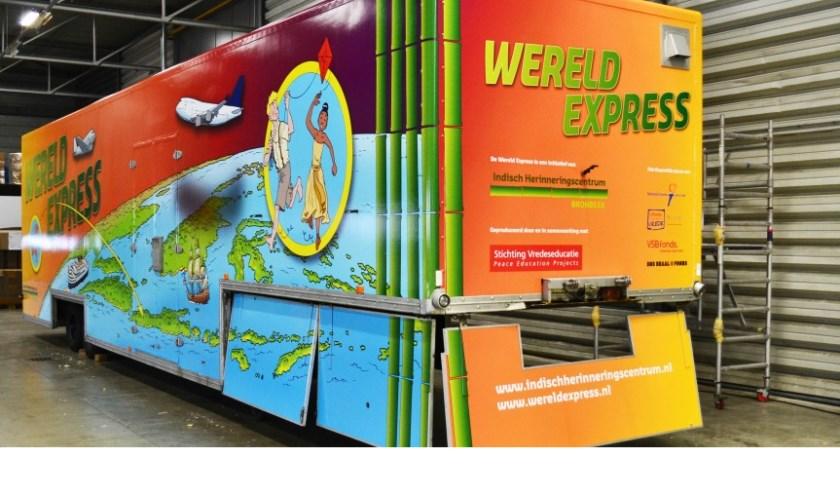 De reizende tentoonstelling De Wereld Express. | Foto: PR Indisch herinneringscentrum