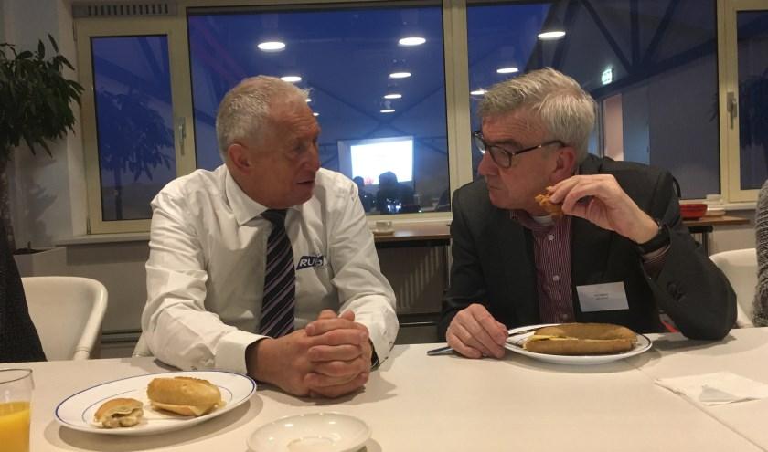 Ruud Fortman (Rufo Clean) en Paul Wiltink (ABN AMRO) met elkaar in gesprek. | Foto: Rudeboy Media