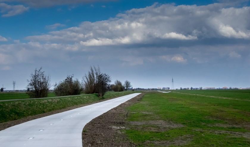 Het gloednieuwe fietspad aan de Ruigekade ligt tussen knooppunten 41 en 71. | Foto: J.P. Kranenburg