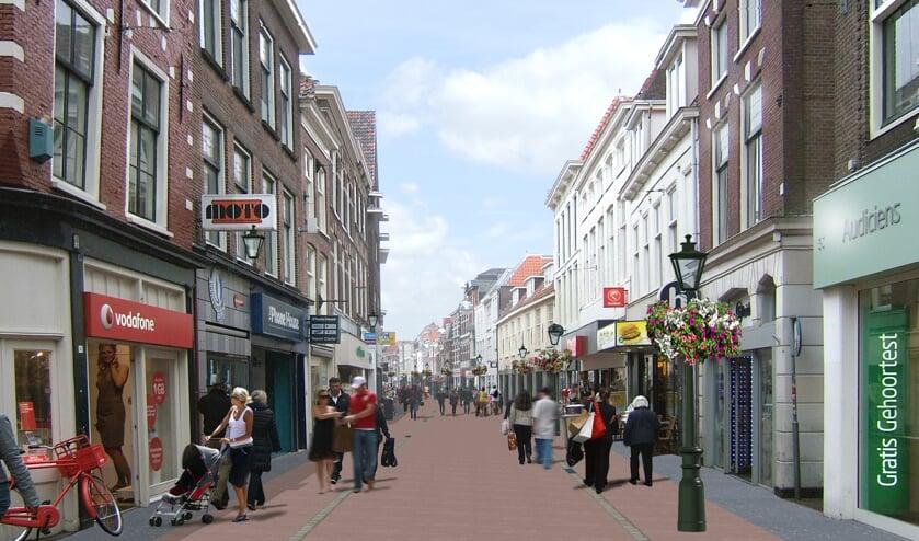 De Haarlemmerstraat wordt voorzien van een nieuwe inrichting die past bij de historische binnenstad.