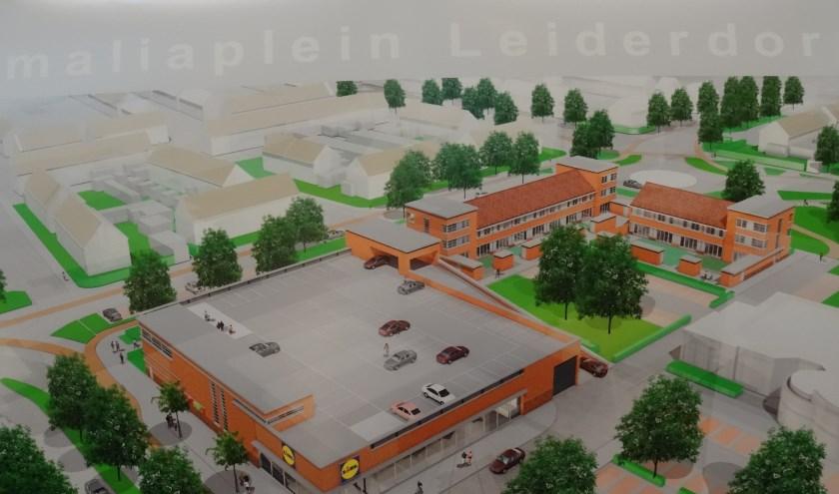Een artists impression van de bouwplannen voor het Amaliaplein, die woensdag werd getoond.
