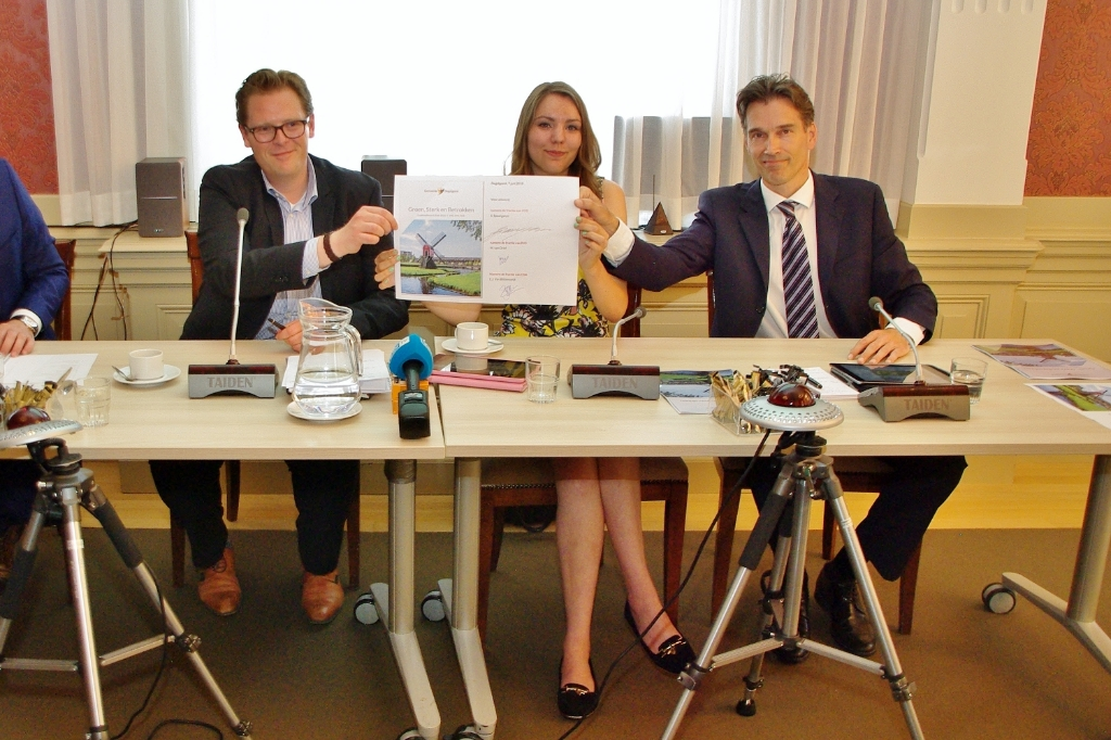 De presentatie van het oude coalitieakkoord in juni 2018. | Archieffoto Foto: Willemien Timmers © uitgeverij Verhagen