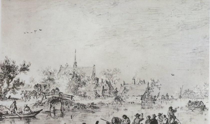 'Boating Party on a River' van Jan van Goyen uit 1651.