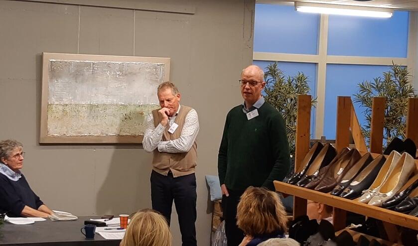 Gijsje Duijzer wordt geinterviewd door Erik Hietkamp en Piet Overduin.