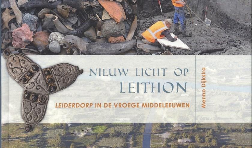 Een deel van de voorpagina van het boek 'NIeuw Licht op Leithon'.