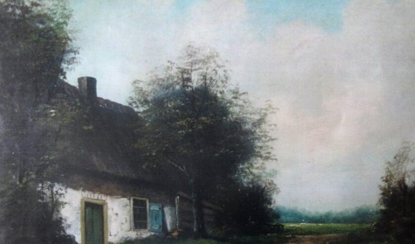 Boerderij Sasbergen. | Foto: van schilderij, particulier bezit.