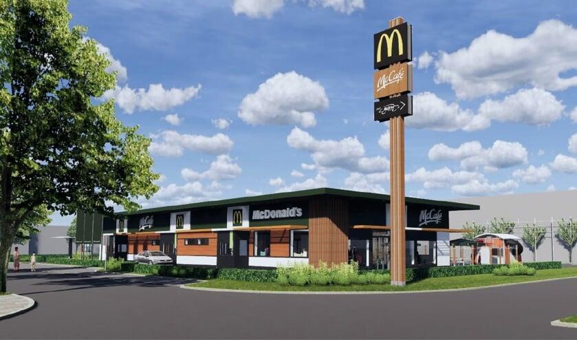 <p>Een impressie van de geplande nieuwe McDonald's aan de Zeilmakerstraat.   Foto: pr</p>