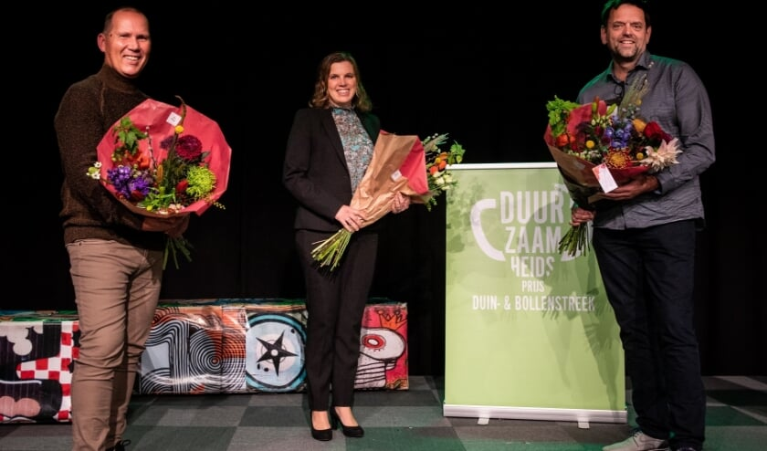 <p>Gert van Soest (Chocolaterie Pierre), Marjolijn Balk (To Maat) en Thomas Clavaux (deBloemist.nl).  Foto: Goulmy Design &amp; Fotografie.</p>
