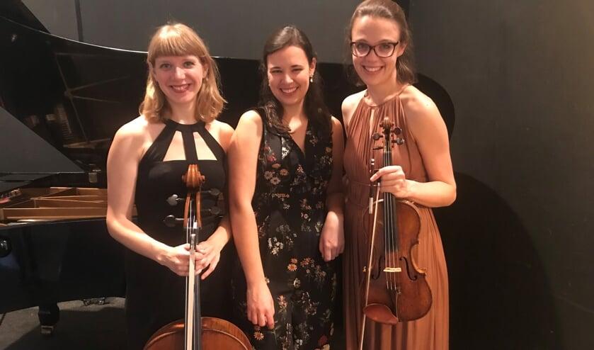 <p>Het trio bestaat uit de Nederlandse violiste Emma Rhebergen, de veelzijdige Belgische pianiste Fem Devos, en de Amerikaanse celliste Anna Litvinenko, </p>