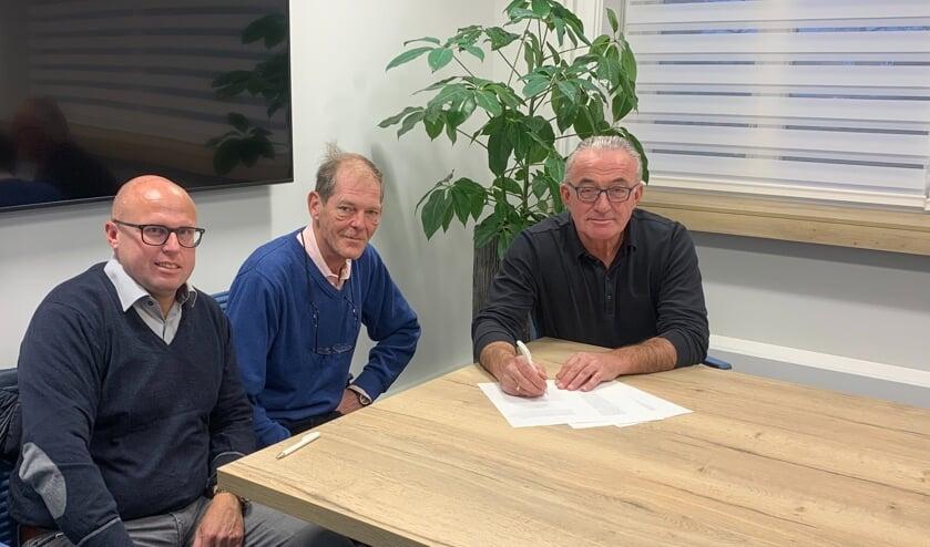 V.l.n.r. stichtingsbestuurders Edwin de Mol, Jacco Haarsma en Willem van Rijn