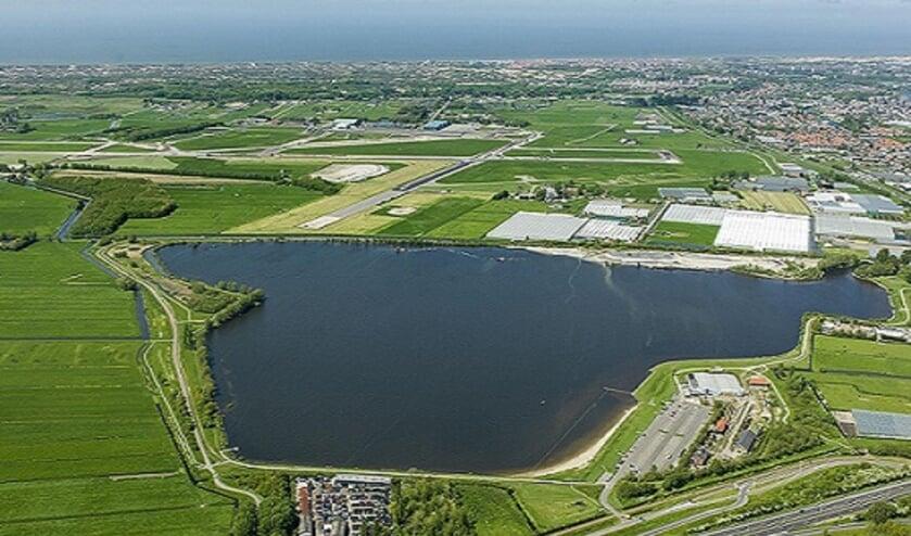 Luchtfoto Valkenburgse Meer. | Foto: Gemeente Katwijk