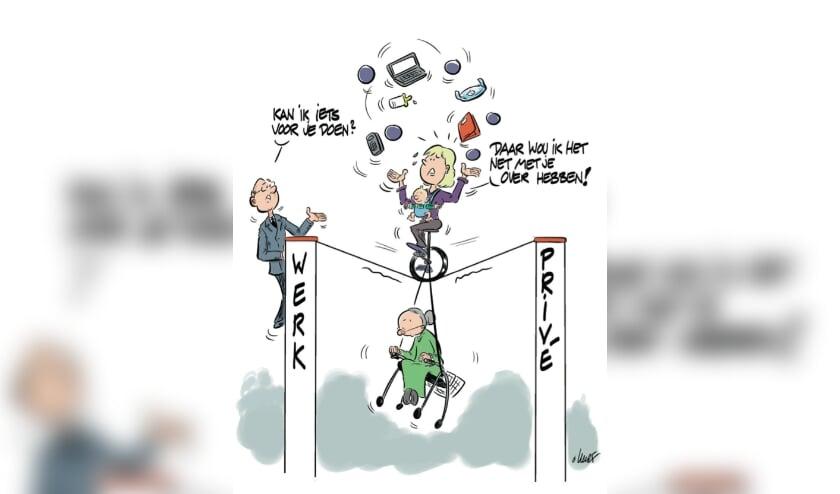 Een goede balans vinden in werk en privé, dat valt zeker voor mantelzorgers vaak niet mee. Praat erover op je werk.