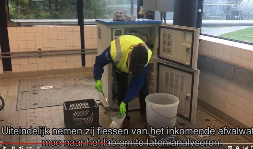"""<p>Klik <a href=""""https://www.youtube.com/watch?v=X_EhAk7CAr8"""">hier </a>voor een filmpje met uitleg over het bemonsteren van rioolwater.&nbsp;</p>"""