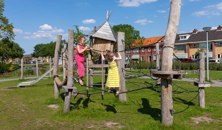 Het speeltuintje aan het Heemskerkplein.