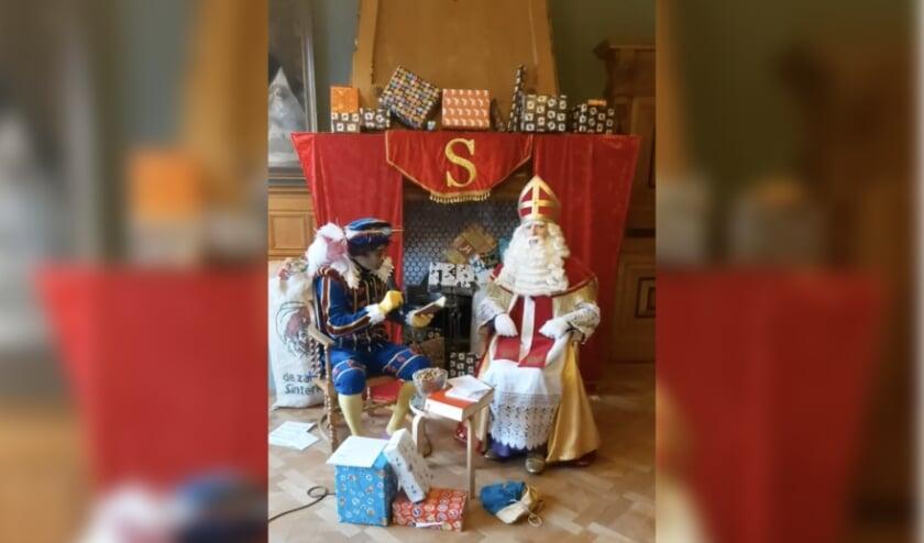 <p>Via een livestream beantwoordde Sinterklaas heel veel vragen van kinderen.</p>