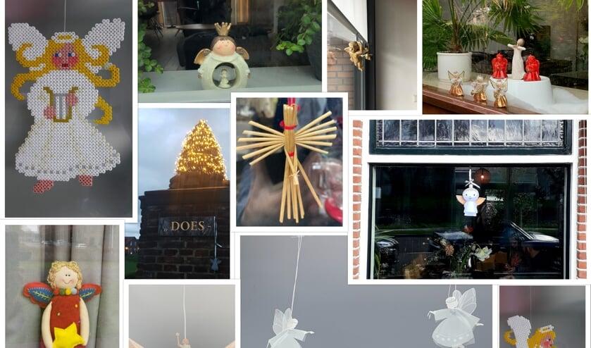 <p>Achter een aantal Leiderdorpse ramen zijn nu al engeltjes te spotten.   Foto: PR</p>