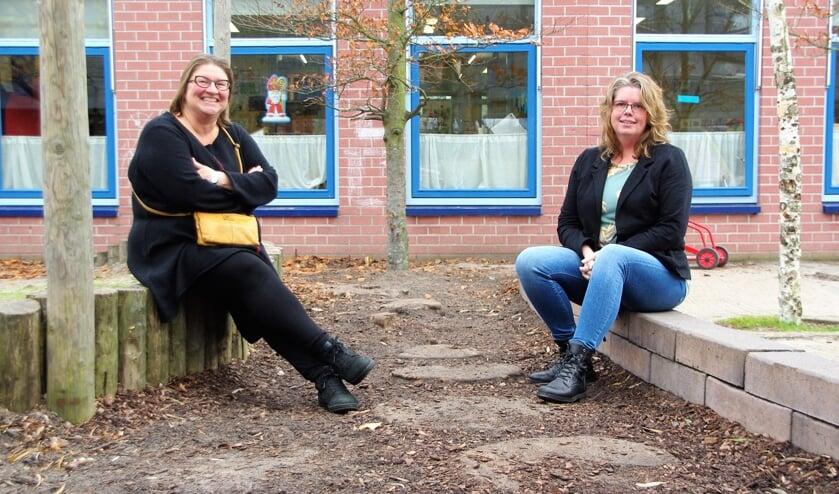 <p>Annette ter Haar en Natasja van Essen zijn vol overtuiging geswitcht naar het onderwijs.   Foto Willemien Timmers</p>