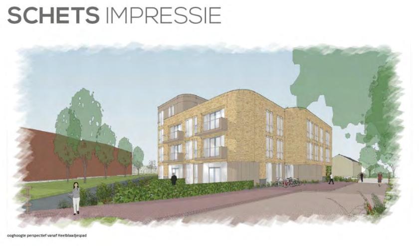 Een impressie van het nieuwe appartementencomplex.   Beeld: Architectenbureau Van Manen