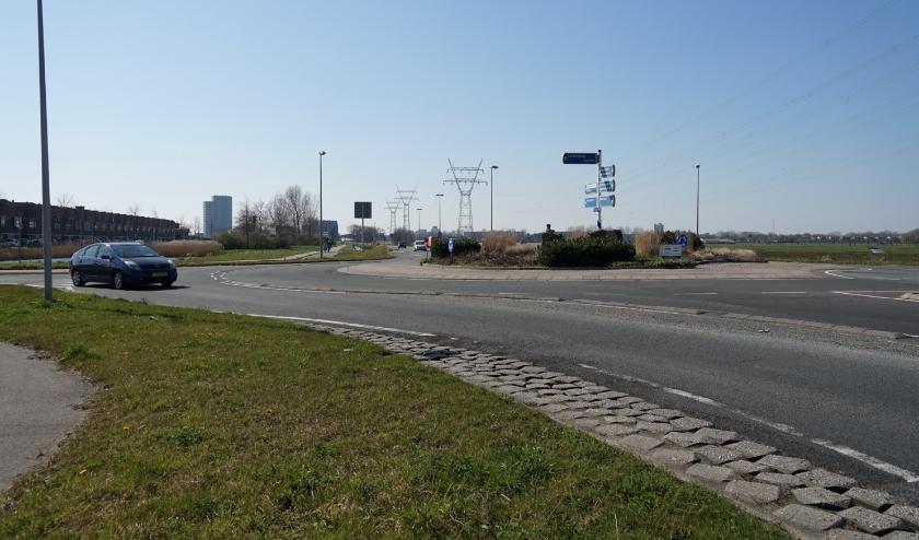 De Oude Spoorbaan met de rotonde bij de Schildwacht.