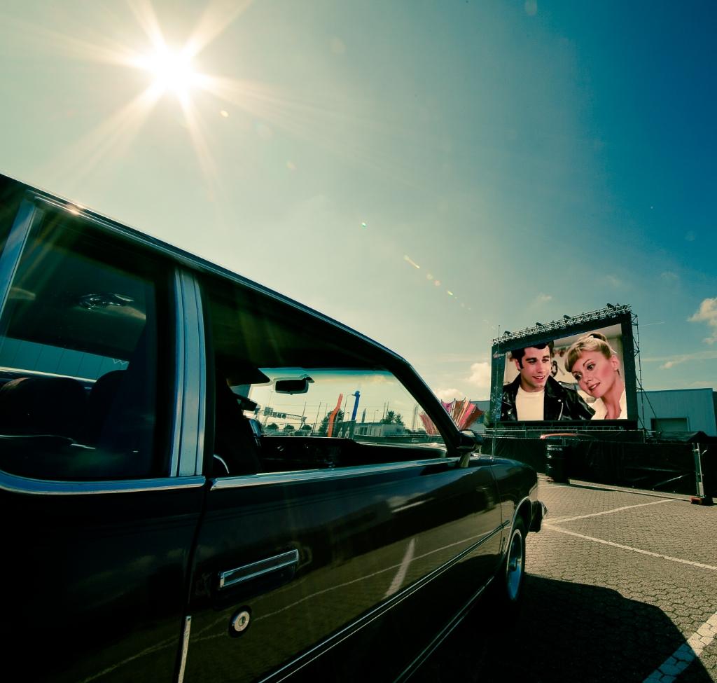 In de auto kijken naar Grease. Foto: Ed Geels Fotografie © uitgeverij Verhagen
