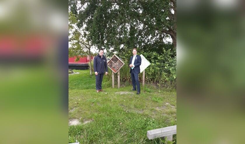 Watergraaf Erik de Ridder en Dijkgraaf Rogier van der Sande.