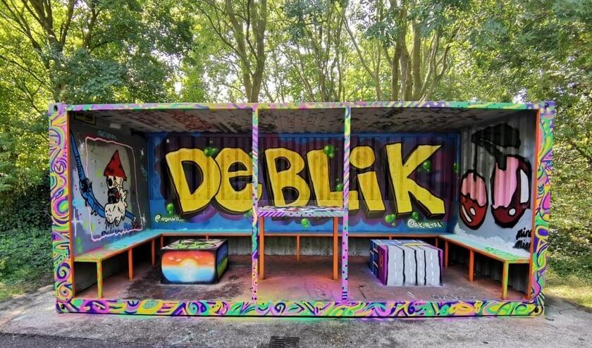 Jongerenontmoetingsplaats De Blik is prachtig gepimpt.