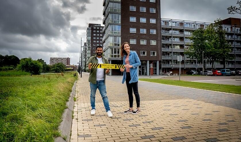 Rudo Slappendel en Joyce van Meurs, partners in het zakelijk leven én privé, doen er alles aan om de Jaarmarkt zo corona-veilig mogelijk te maken.