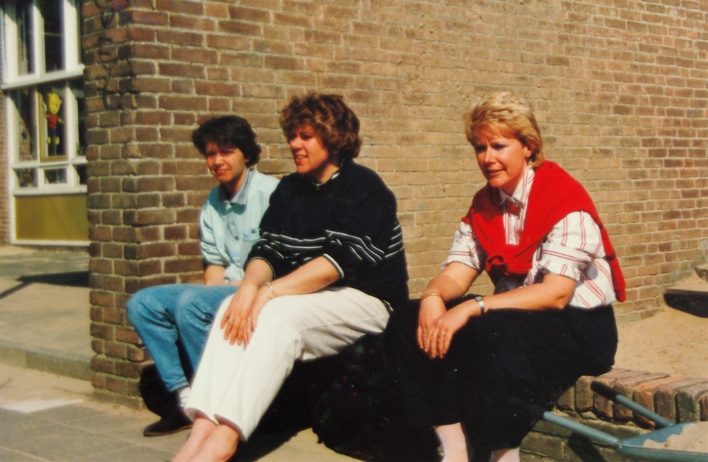 April 1988 - weemoedig afscheid van de Hazenwei. Foto: Eigen foto © uitgeverij Verhagen