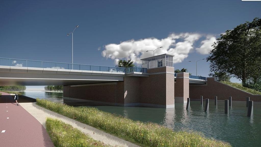 Zo moet de nieuwe brug er uiteindelijk uit zien Foto: Gemeente Katwijk © uitgeverij Verhagen