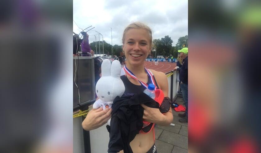 Andrea Bouma werd al eerder nationaal jeugdkampioen. Nu heeft ze ook bij de senioren haar eerste gouden medaille binnen. | Foto: pr.