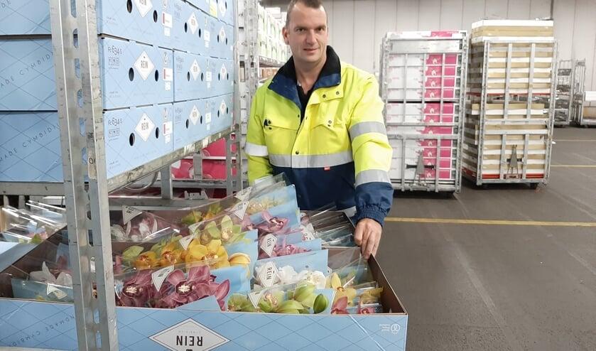 <p>Mark van Niel, Royal FloraHolland veilingmeester Naaldwijk.</p>