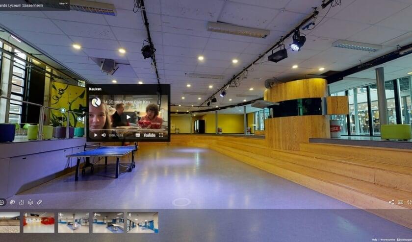 <p>Middels een virtuele tour door de school kunnen achtstegroepers toch kennismaken met het voortgezet onderwijs op het Rijnlands Lyceum in Sassenheim. | Foto: pr</p>