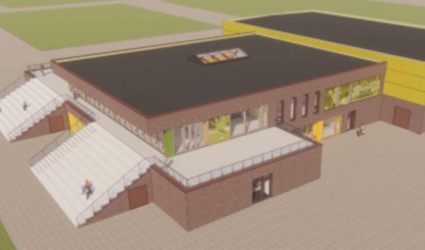 Impressie van de nieuwbouw op Ter Specke.