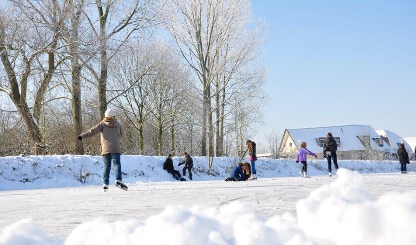 Dit weekend lag er een laagje sneeuw. IJspret is toch alweer wat langer geleden...