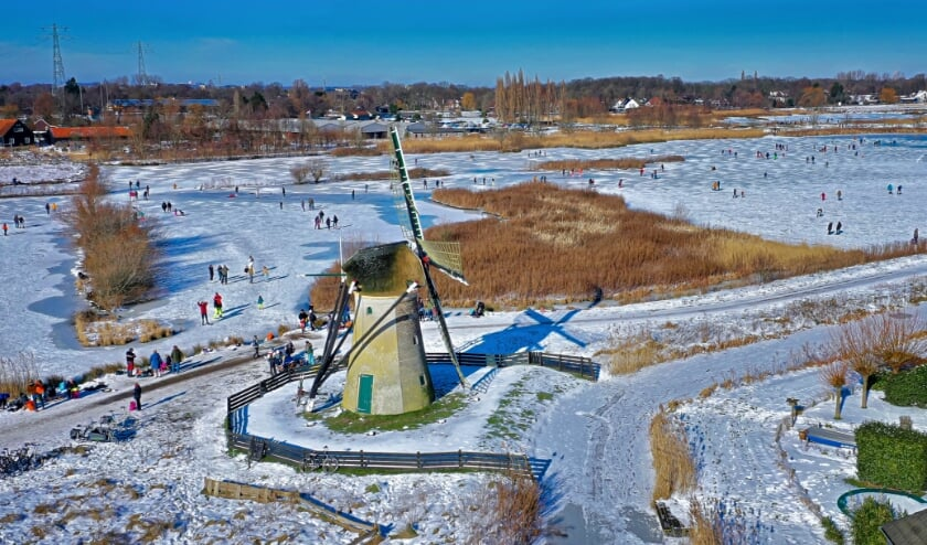 <p>Een prachtig shot van de polders Poelgeest, waar afgelopen weekend heerlijk geschaatst kon worden. | </p>