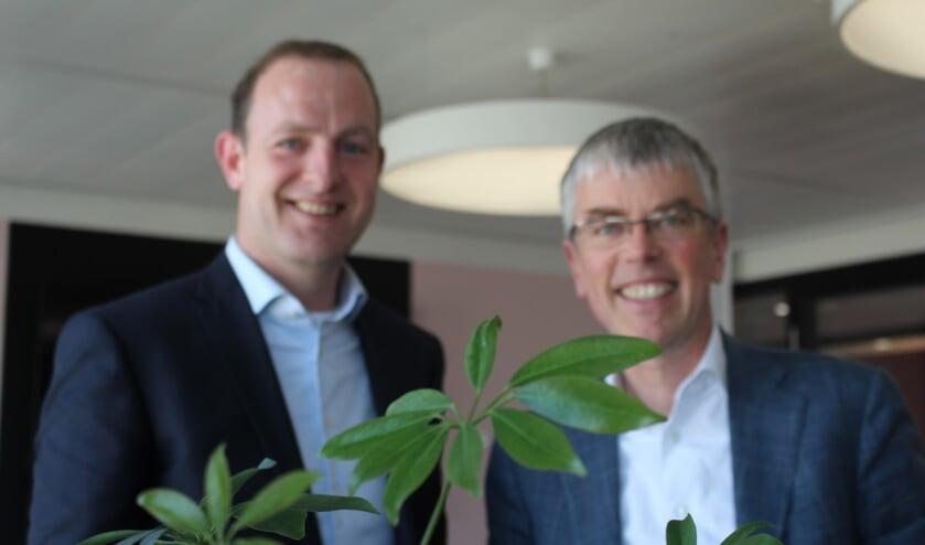 <p>Directie Royal FloraHolland, David van Mechelen en Steven van Schilfgaarde.</p>