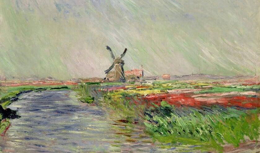 Een schilderij van een Oegstgeester molen van Claude Monet.
