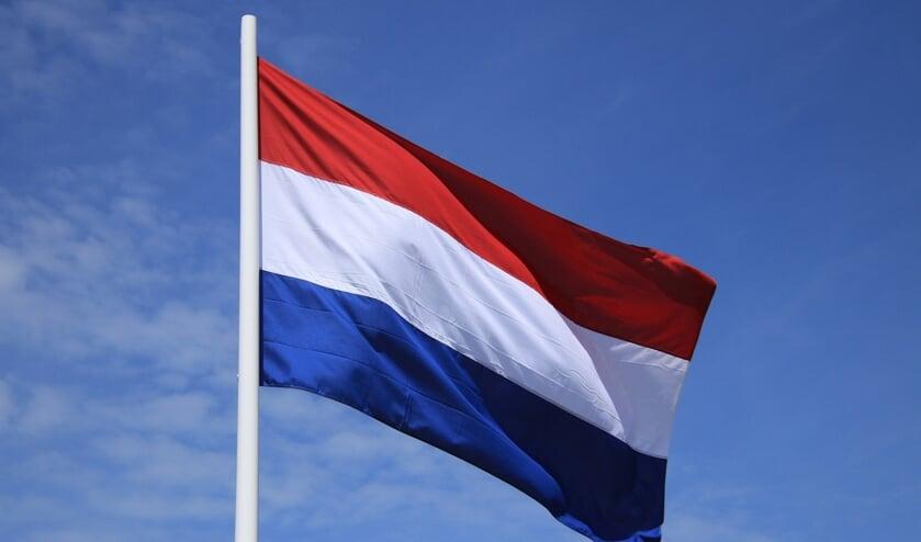 Op Koningsdag vlaggen is altijd goed! Bij deze vlag ontbreekt de wimpel, die mag er dan ook bij.