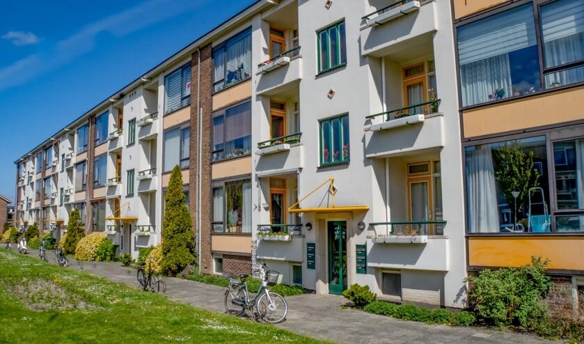 Appartementen van Rijnhart Wonen in de Leiderdorpse wijk Ouderzorg.