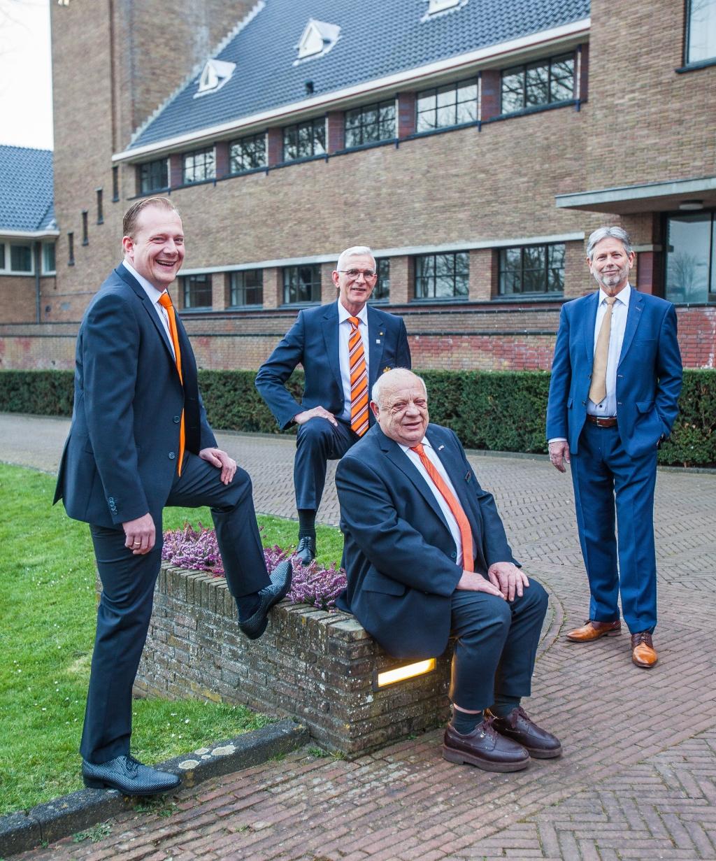 <p><br></p><p>De voorzitters Robert Jan Heemskerk, Cees Maagdelijn, Harry Minnee, en Jan de Winter (v.l.n.r). <br>  Foto: Adrie van Duijvenvoorde</p>